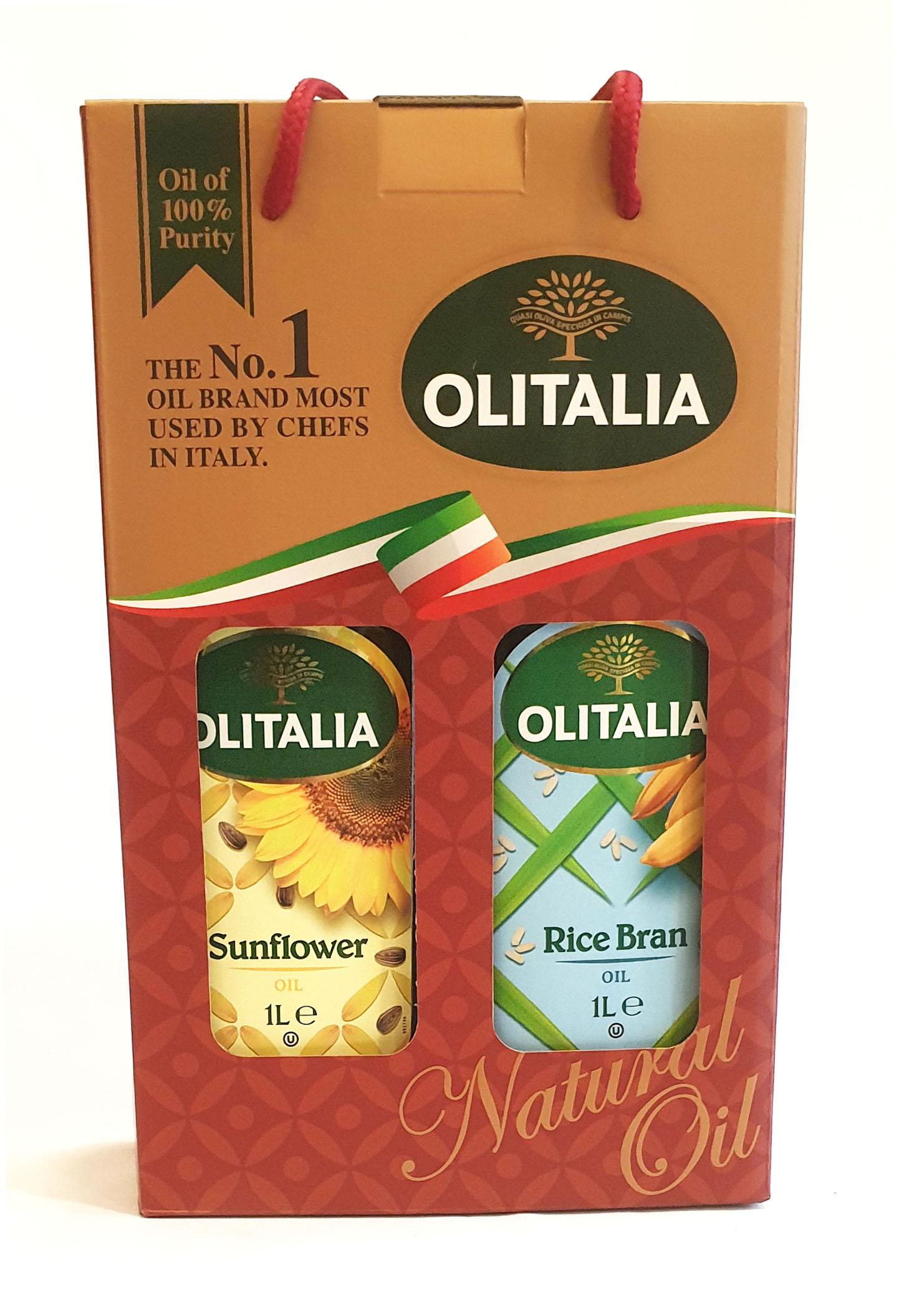 奧利塔 葵花油 芥花油禮盒組 1公升/瓶 (義大利原裝進口)