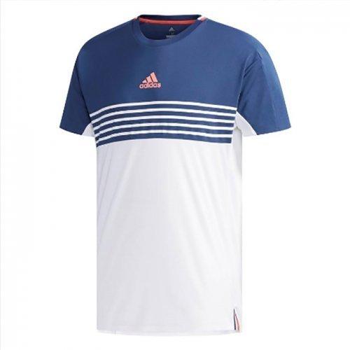 ADIDASCTCLUBCB男裝短袖網球排汗透氣藍白【運動世界】CG2549