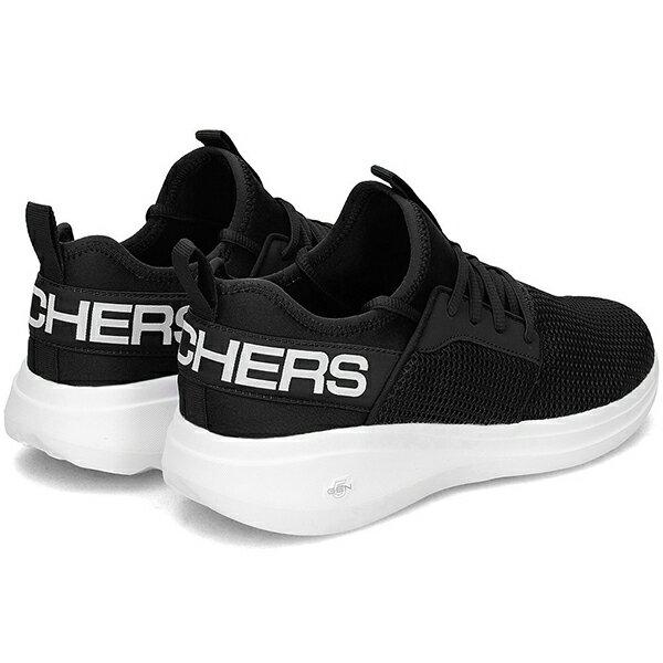 Shoestw【55103BKW】SKECHERS 慢跑鞋 GO RUN FAST VALOR 健走鞋 襪套 瑜珈鞋墊 後大LOGO 黑白 男生尺寸 3