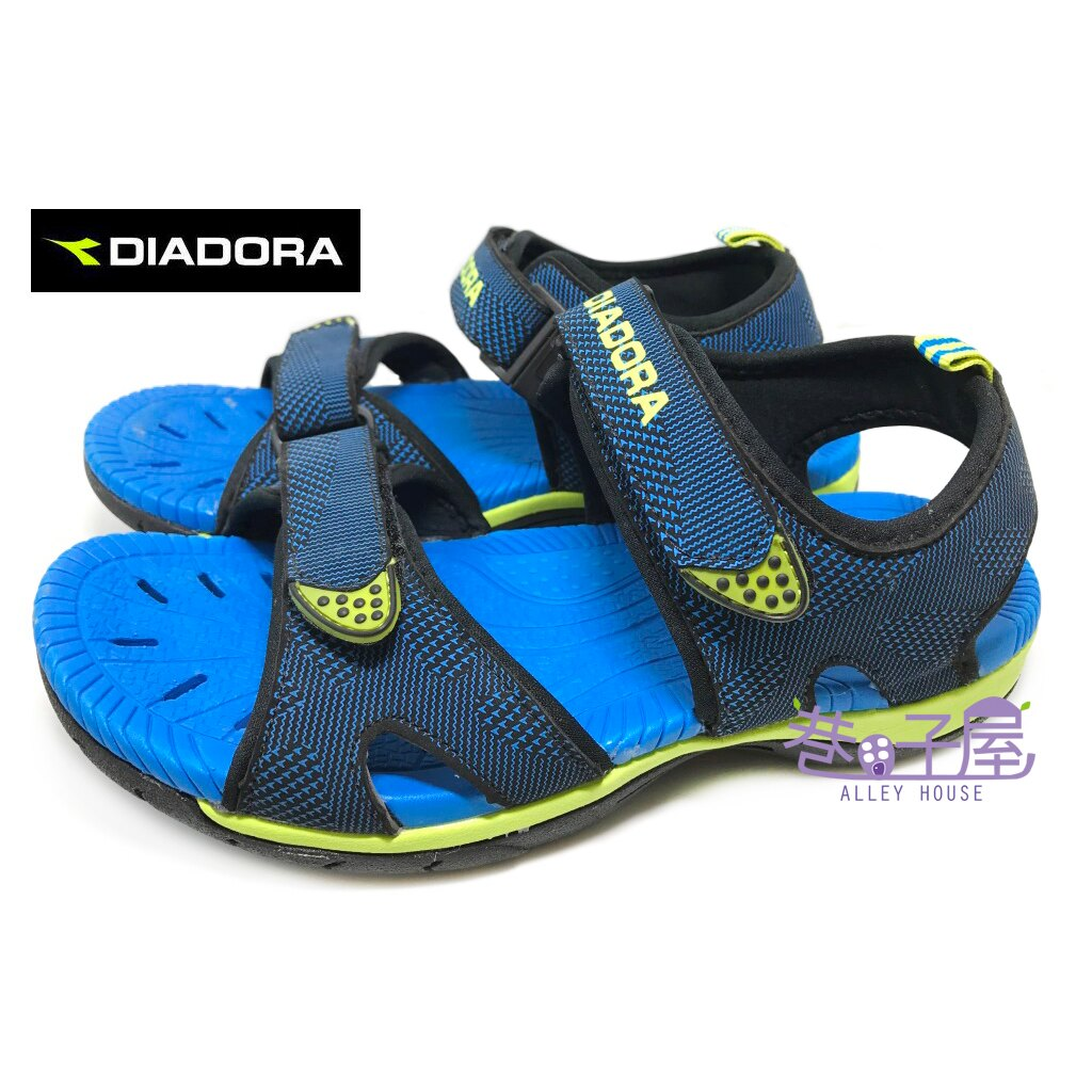 【巷子屋】義大利國寶鞋-DIADORA迪亞多納 男童排水戶外運動涼鞋 [2206] 藍 超值價$398