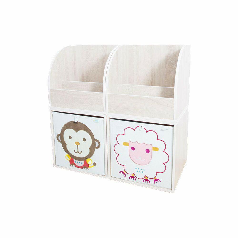 收納櫃 收納  收納箱 兒童收納 MyTolek 童樂可積木櫃&藏寶盒六件組(北歐風~木紋) 1