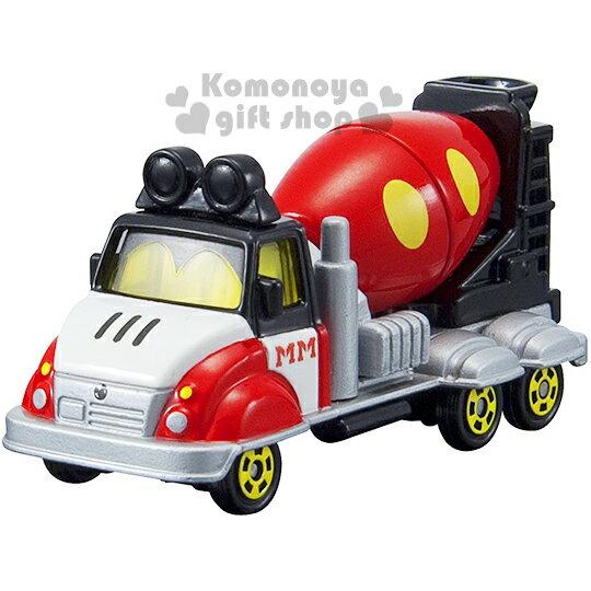 〔小禮堂〕迪士尼 米奇 TOMICA合金小汽車《DM-14.水泥車》經典造型值得收藏