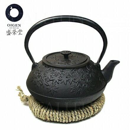 【盛榮堂】南部鐵器 秋楓鑄鐵壺/煮水瓶 1.2L‧日本製