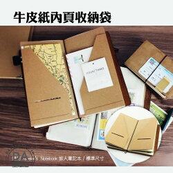 厚牛皮紙收納 適用 Traveler's Notebook 旅人筆記本 標準尺寸(84-0012)