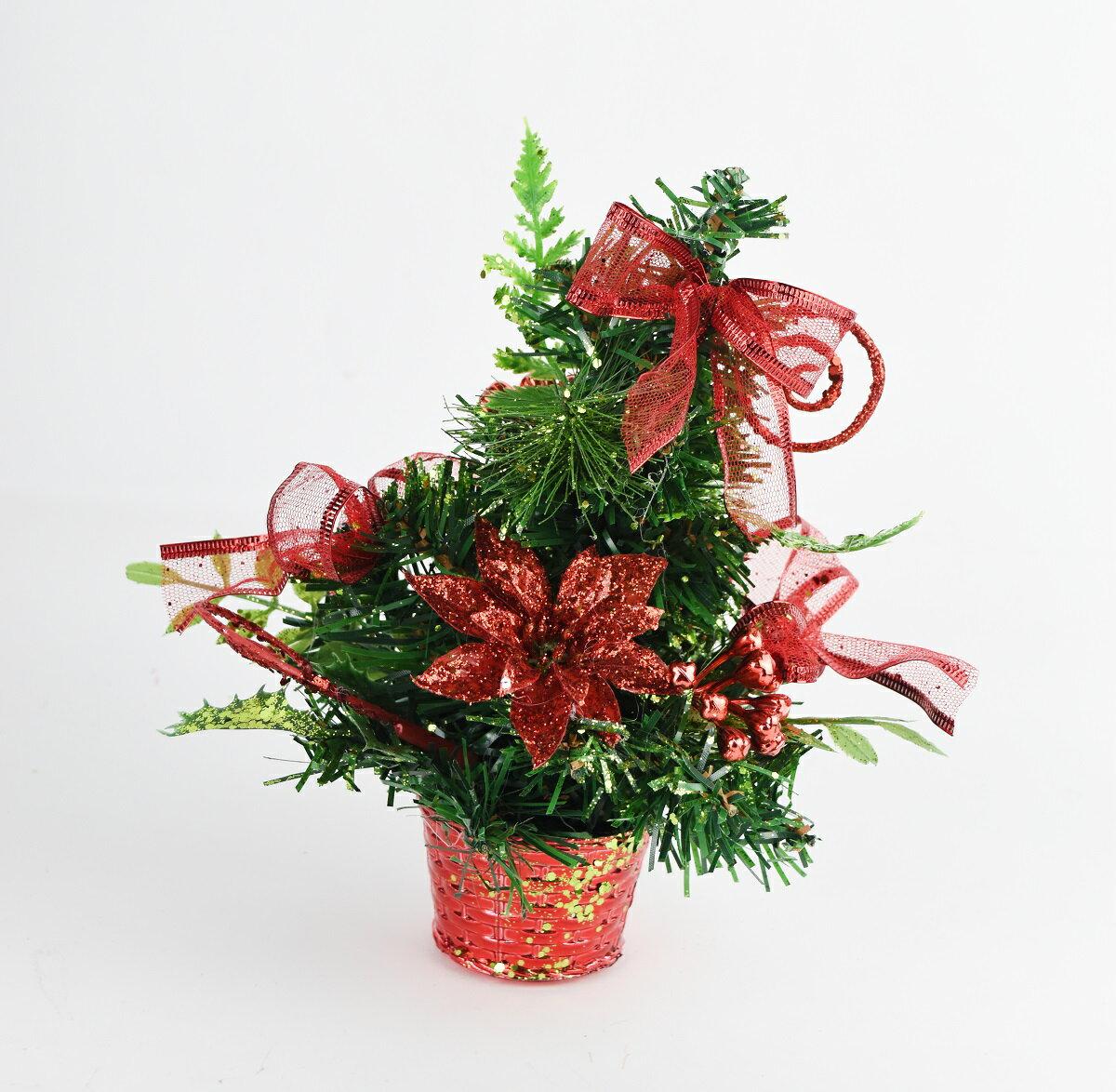 X射線【X454035】20cm裝飾聖誕樹(紅),聖誕樹/聖誕佈置/聖誕燈/會場佈置/材料包/成品樹/小樹