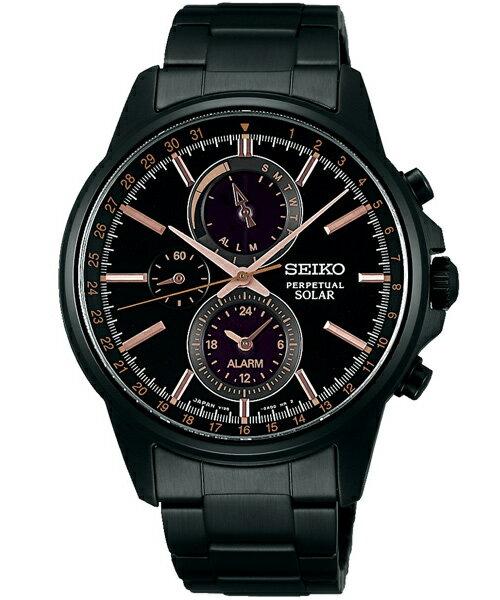 Seiko Spirit V198-0AC0G(SBPJ019J)極致太陽能多功能流行腕錶/黑面41mm