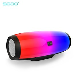 SODO L1 炫彩LED立體聲藍牙音響喇叭 支援免提通話/TF卡/隨身/FM收音機/TWS藍牙互聯/NFC多功能音箱