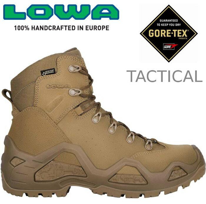 Lowa 軍靴/戰術靴/戰鬥靴/中筒軍用鞋/防水登山鞋/生存遊戲 Z-6S GTX Mid 男 LW310668 0731土狼棕