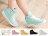 格子舖*【AR601-1】(送襪子韓國製造)韓版碎花透明果凍雨鞋 馬汀鞋 馬丁鞋 8色 1