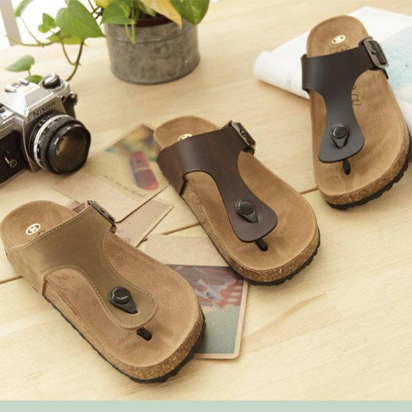 格子舖*【AP8269】MIT台灣製造高質感基本款皮革人字夾腳鞋 懶人鞋 - 限時優惠好康折扣