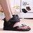 格子舖*【KA8521-10】夏季新款舒適個性帥氣羅馬風 平夾趾跟金屬裝飾涼鞋 2色 - 限時優惠好康折扣