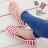 格子舖*【AJ37066】MIT台灣製 青春夏季 條紋海軍風硬挺布舒適帆布鞋 懶人鞋 2色 - 限時優惠好康折扣