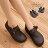 格子舖*【AW7328】MIT台灣製 高質感高品質真皮基本款皮革女款全包鞋 懶人鞋 兩色 - 限時優惠好康折扣