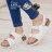 ★399免運★格子舖*【AW9231】MIT台灣製 嚴選春夏美型舒適皮革 金屬扣環 羅馬涼鞋 2色 - 限時優惠好康折扣