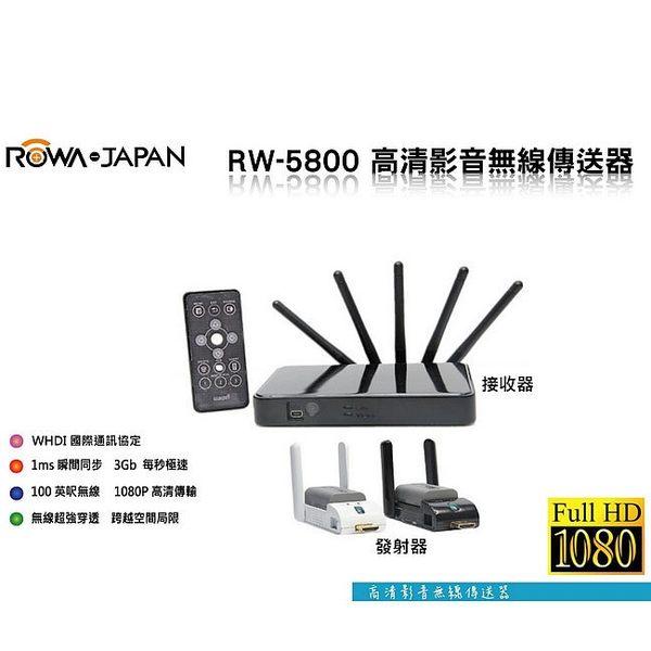 【新風尚潮流】ROWA 影音傳送器 WHDI 無線影像傳輸 1080P 會議簡報 家庭數位生活 RW-5800