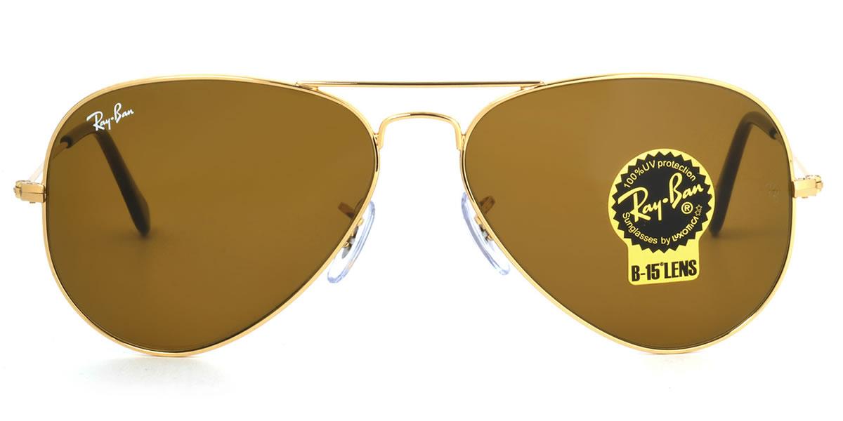 Outlet 美國100% 正品代購 經典 Ray Ban 雷朋 復古 墨鏡 太陽眼鏡 RB3025 金邊棕鏡