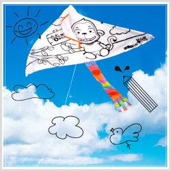 【aife life】彩繪風箏-B版/彩繪風箏材料包 DIY彩繪風箏 空白風箏 勞作用品彩繪風箏 教學風箏/親子遊戲/戶外運動/