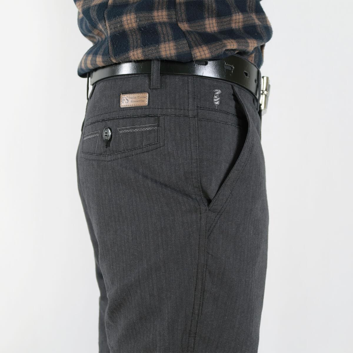 加大尺碼精梳棉平面休閒長褲 顯瘦長褲 彈性長褲 斜口袋條紋長褲 版型修飾腿型更顯修長 COMBED COTTON CASUAL PANTS FLAT FRONT STRAIGHT PANTS SLIM PANTS (321-1071-01)黑色 腰圍30~41(英吋) [實體店面保障] sun-e 8