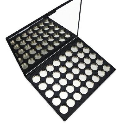 眼影空盒 DIY Mini小40孔眼影空盒磁鐵盒眼影腮紅眉粉分裝壓盤彩妝空盤『MY4196』