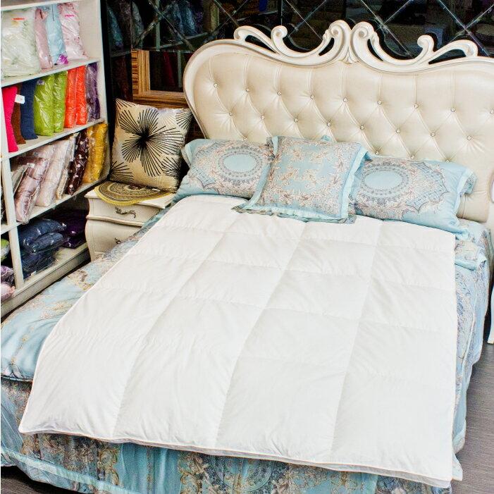 【名流寢飾家居館】JENNY SILK.98%法國羽絨被.單人60支純棉防絨表布