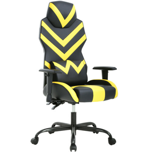 New Racing Style Pu Gaming Chair Ergonomic Swivel Rolling Lumbar Support 0