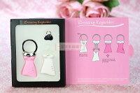 婚禮小物推薦到一定要幸福哦~~婚紗禮服鑰匙圈、婚禮小物、姐妹禮、送客禮
