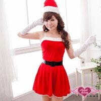 送小孩聖誕禮物到天使甜心☆GZ14103紅 細肩帶連身聖誕服 耶誕服 表演服 派對 角色扮演 角色服
