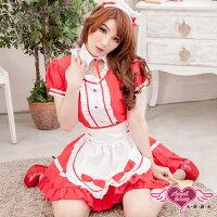 尾牙推薦商品到天使甜心 YC240-紅色烘焙可愛女僕裝 角色扮演 尾牙 表演服 日系睡衣