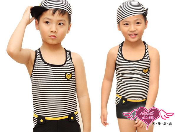 天使甜心 CZ120201黑 小朋友  小童  幼童  男孩 連身式泳裝泳褲 溫泉SPA泡