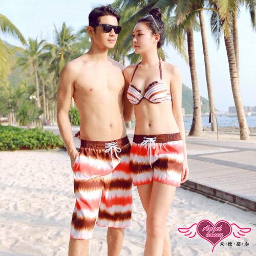 天使甜心 YK1924 條紋暈染情侶海灘褲 男女短褲 泳衣 比基尼 泳裝