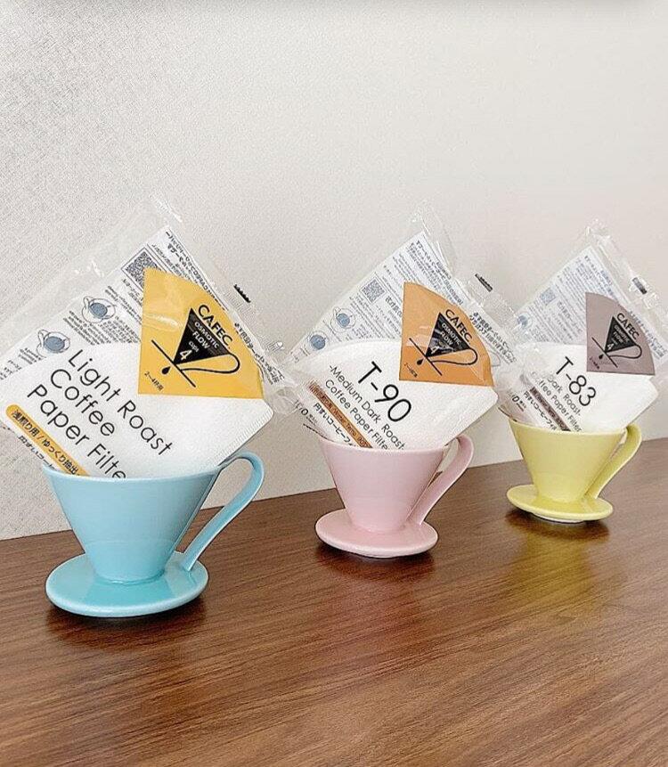 三洋濾紙 CAFEC 中深焙錐形濾紙100入 (1-2人份)、(2-4人份) 咖啡濾紙《vvcafe》 2