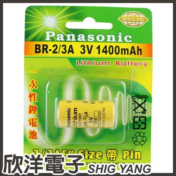 ※欣洋電子※Panasonic一次性鋰電池23AE(BR-23A)3V1400mAh日本製