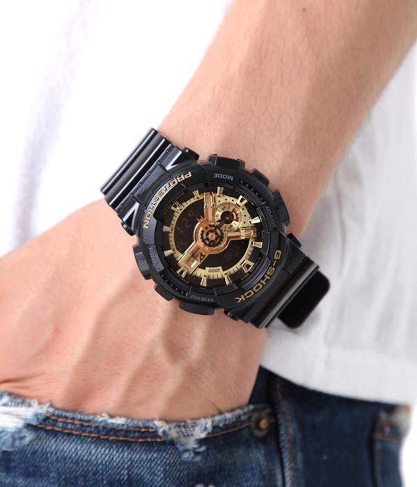 國外代購 CASIO G-SHOCK GA-110GB-1A 黑金霸魂 防水 手錶 腕錶 電子錶 男女錶 1
