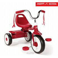 【安琪兒】美國【Radio Flyer】紅騎士折疊三輪車(彎把)