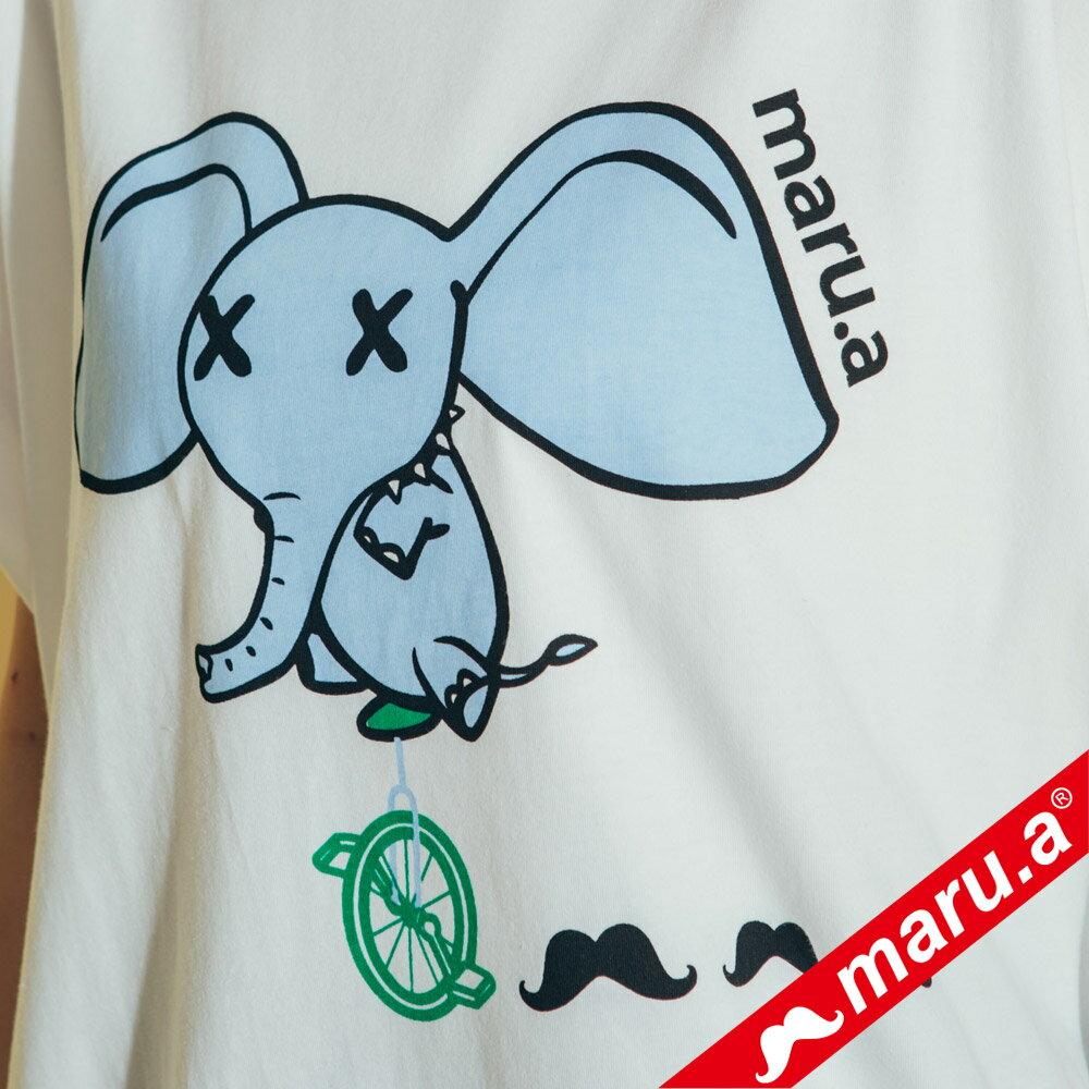 【maru.a】小飛象印花條紋上衣  8321321 4