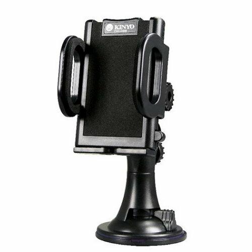 KINYO 通用型固定車架 CH-036 吸盤車架 適用 IPHONE PDA GPS PSP 360度旋轉/強力吸盤/附贈黏貼式圓盤