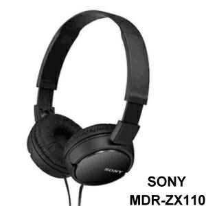 SONY MDR-ZX110 黑 耳罩式立體聲耳機 30mm 高音質驅動單元 容易收納攜帶