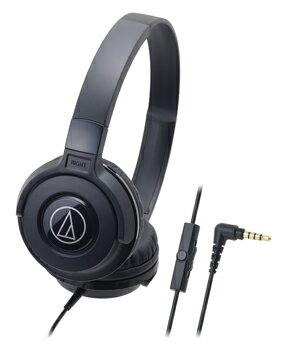audio-technica 鐵三角 ATH-S100iS 智慧型手機用DJ風格可折疊式頭戴耳機【黑色】