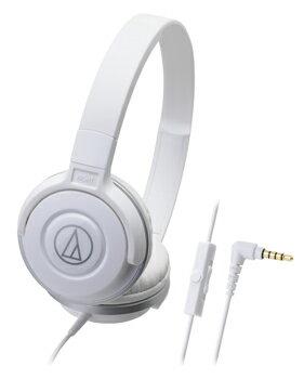 audio-technica 鐵三角 ATH-S100iS 智慧型手機用DJ風格可折疊式頭戴耳機【白】
