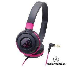 audio-technica 鐵三角 ATH-S100 街頭DJ風格可折疊式頭戴耳機【黑粉