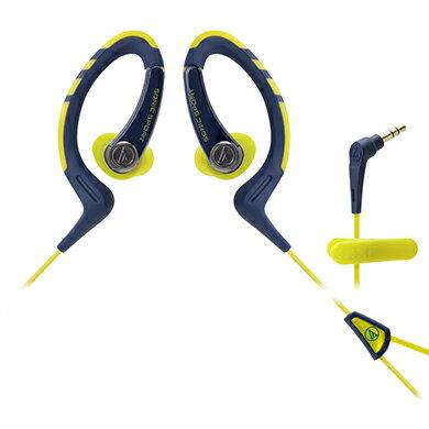鐵三角 ATH-SPORT1 藍黃  防水運動型專用耳掛耳塞式耳機
