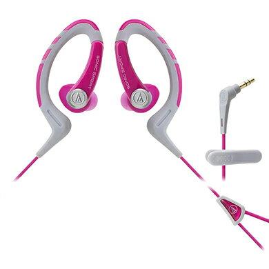 鐵三角 ATH-SPORT1 白粉  防水運動型專用耳掛耳塞式耳機
