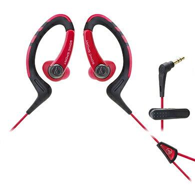 鐵三角 ATH-SPORT1 黑紅  防水運動型專用耳掛耳塞式耳機
