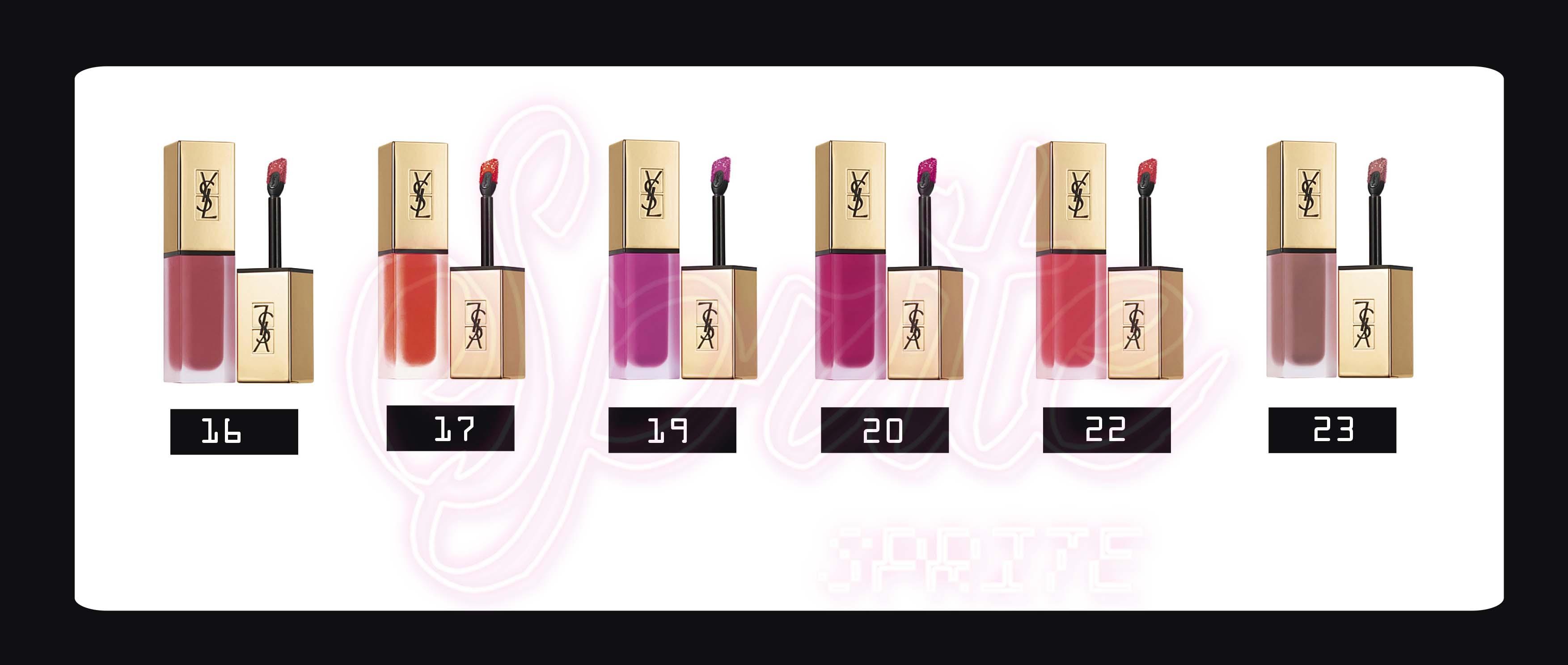 YSL聖羅蘭 時尚印記絲絨唇露  /  奢華緞面鏡光唇釉Tatouage Couture Matte Stain liquid lipstick 2