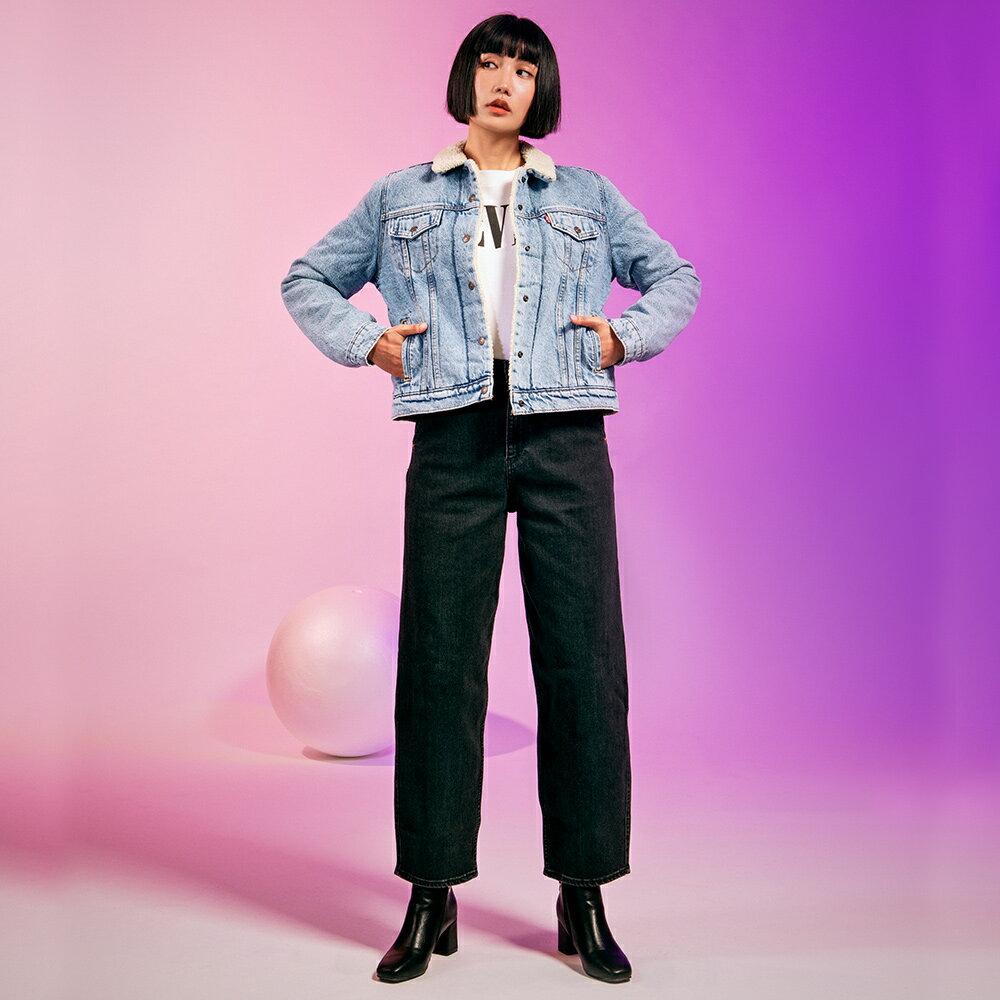 Levis 女款 Balloon 高腰合身氣球版丹寧牛仔寬褲  /  LEJ energy 3D褲  /  Orta歐洲丹寧  /  及踝款 6