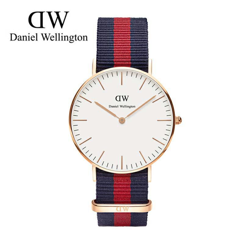 瑞典正品代購 Daniel Wellington 0501DW 玫瑰金 尼龍 帆布錶帶 女錶 手錶腕錶 36MM 0