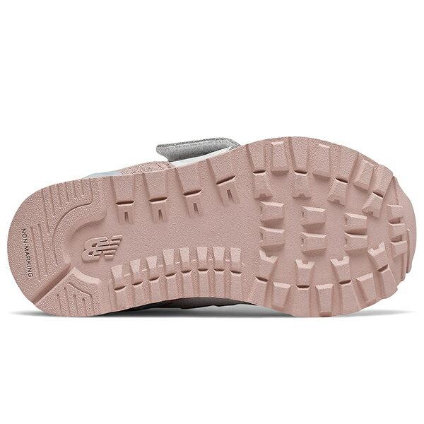 Shoestw【IV574NSE】NEW BALANCE NB574 運動鞋 黏帶 小童鞋 Wide 白粉天藍 3