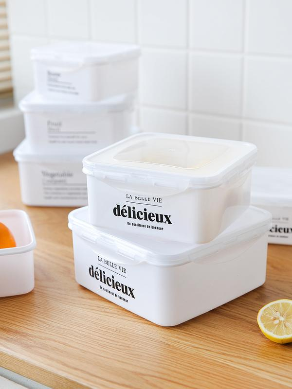 北歐食物保鮮盒水果儲物盒家用長方形冰箱收納盒塑料密封盒1入