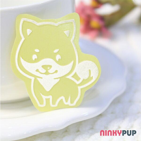 [寵物貼紙] 反光貼紙  萌犬柴犬 4.3*3.9cm