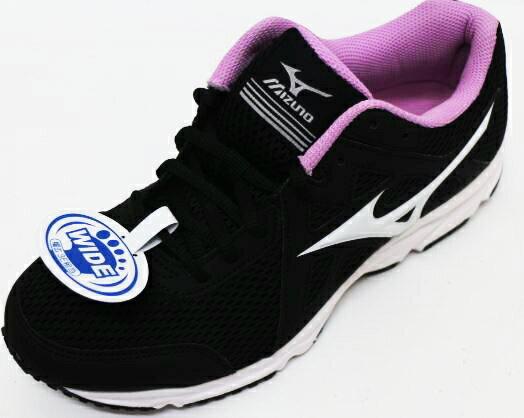美津濃MIZUNO 寬楦 耐磨 透氣 MAXIMIZER 19 女慢跑鞋 K1GA170101(黑X紫)[陽光樂活]